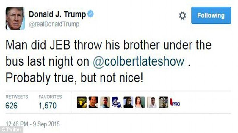 trump jeb tweet