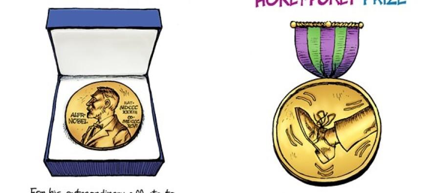 Obama Prizes (Cartoon)