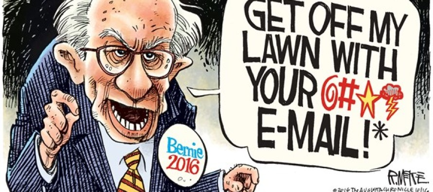 Bernie Sanders Email (Cartoon)