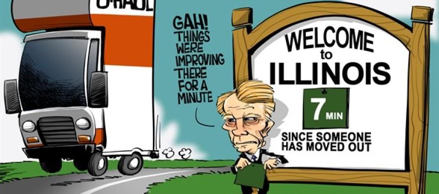 ILLINOIS Leaving Illinois (Cartoon)