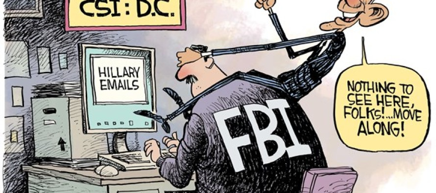 Obama and FBI (Cartoon)