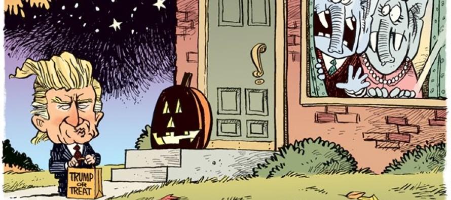 Trump Halloween (Cartoon)