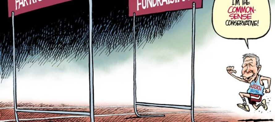 Kasich Hurdles (Cartoon)