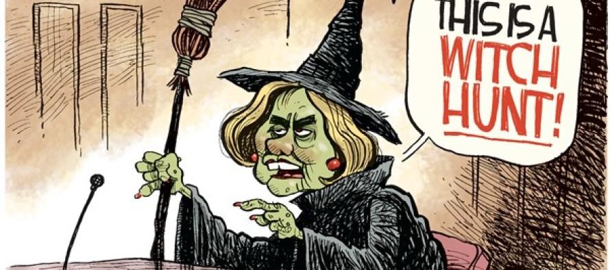 Hillary Witch Hunt (Cartoon)