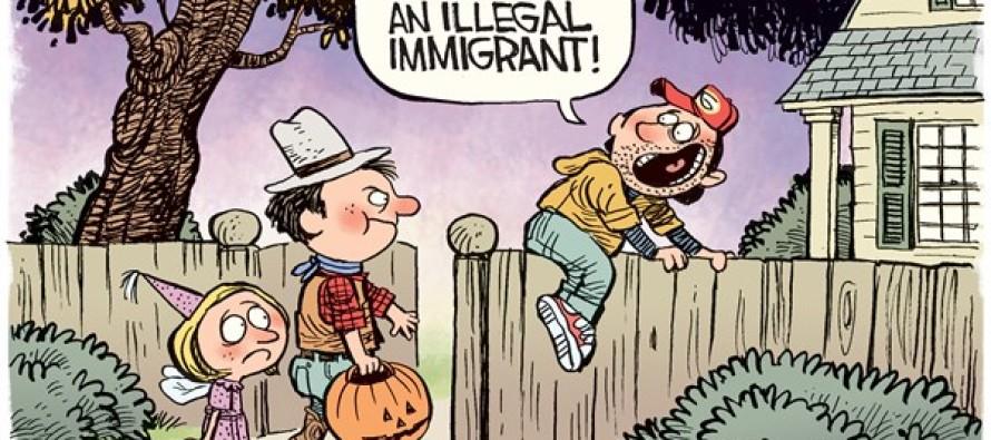 Halloween Immigrant (Cartoon)