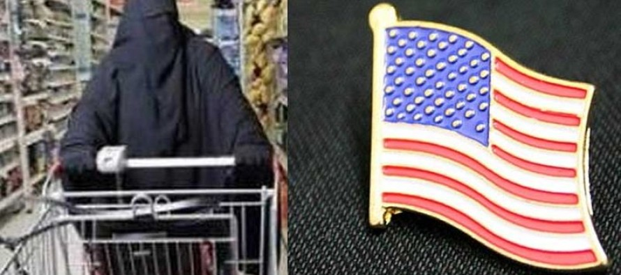 Angry Muslim Confronts Cashier Over Flag Pin..70K Shares Over What Happened Next!