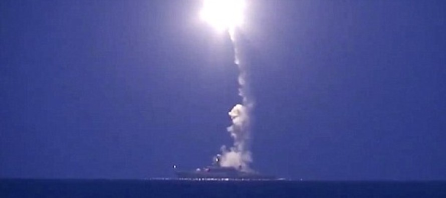 Russia launching CRUISE MISSILES at ISIS, taking the lead on what Obama could have done a long time ago.