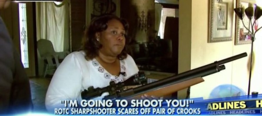 Female ROTC Sharpshooter Hero with Rifle Chases Off Two Armed Robbers in Her Yard