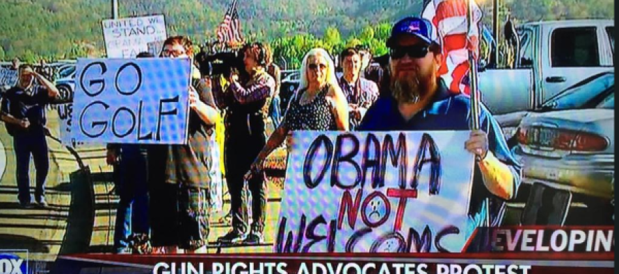 Hundreds of Oregon Patriots Tell Obama to 'Go Golf'… He's Not Welcome in Roseburg [Video]