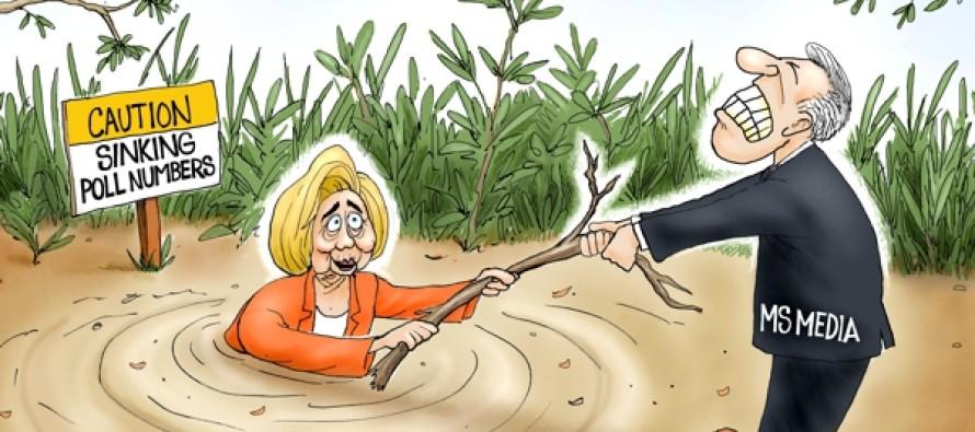 Hillary Sinking (Cartoon)