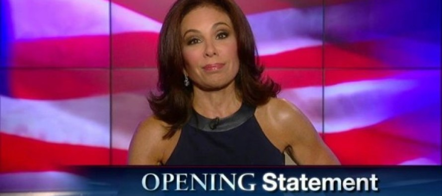 WATCH: Judge Jeanine Gives Epic Defense of Don Trump Jr.