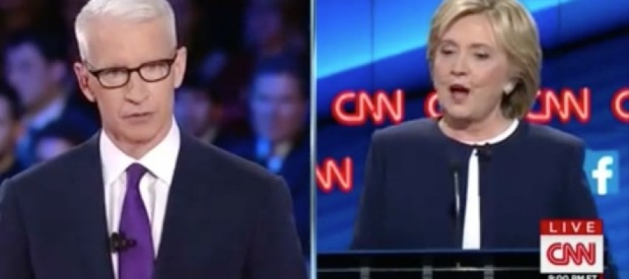 Anderson Cooper WORKS  Hillary Over on Her Flip Flops Tendancies at Debate: 'Will You Say Anything to Get Elected?'