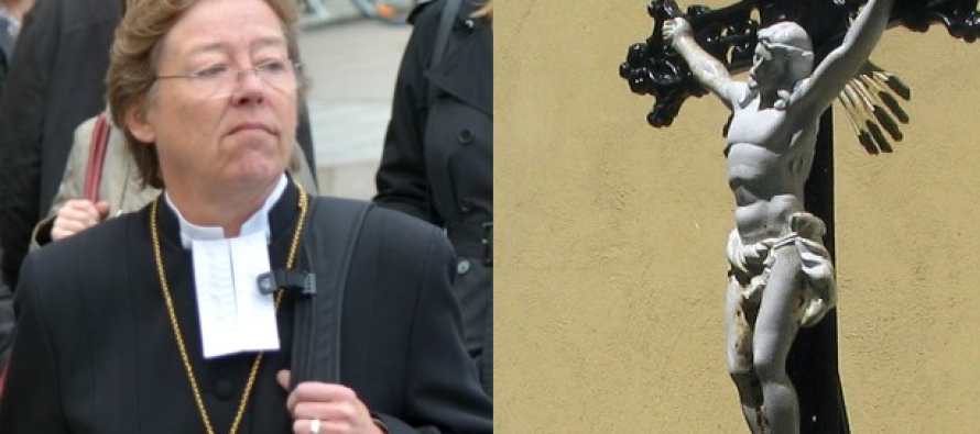 Lesbian Bishop Wants to Remove Crosses from Church to Appease Muslims