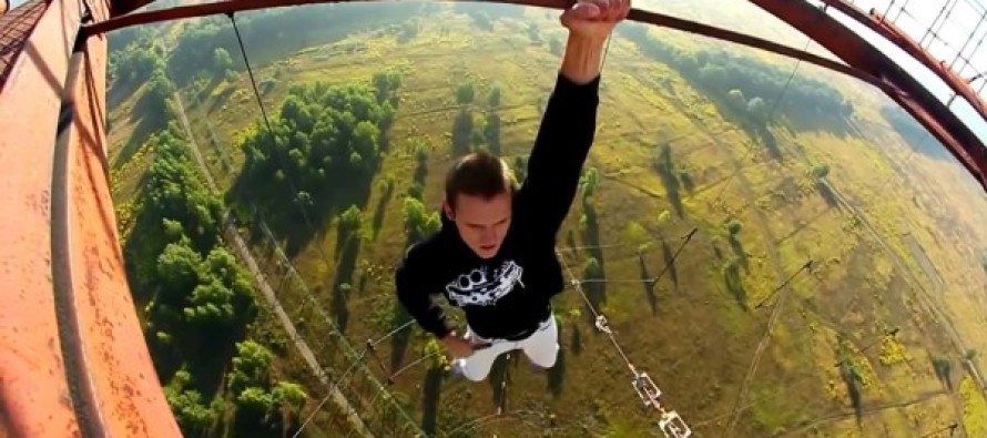 VIDEO: These amateur stuntmen are crazy. This is unbelievable.