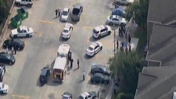 Houston authorities respond to a deadly shooting on the campus of Texas Southern University. (Fox26Houston.com)