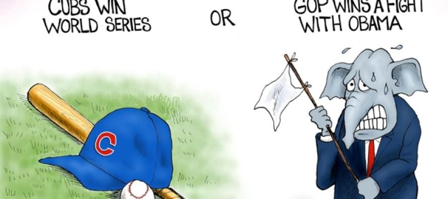 GOP vs Obama (Cartoon)