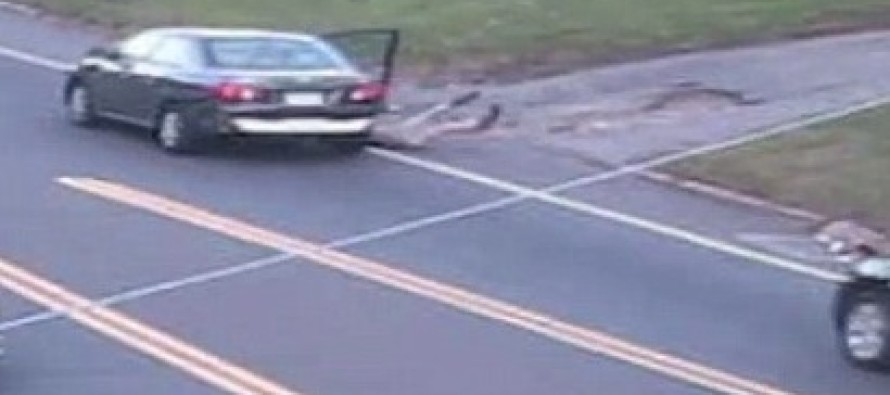Video: Desperate Teen Girl Jumps Out of Moving Car To Get Away From Kidnapper