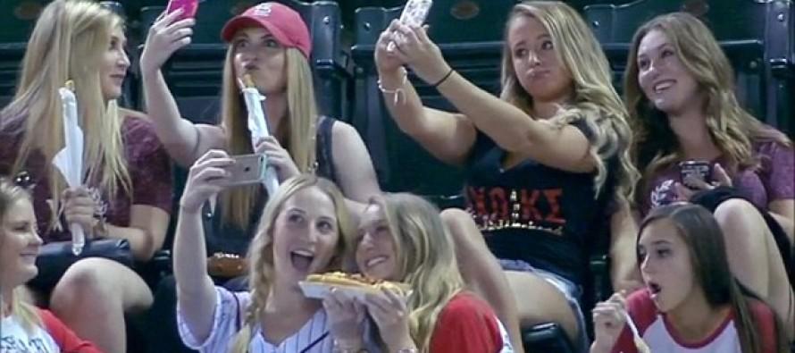 HILARIOUS VIDEO: Baseball Announcers Mock Sorority Girls Caught Taking Selfies During Ball Game