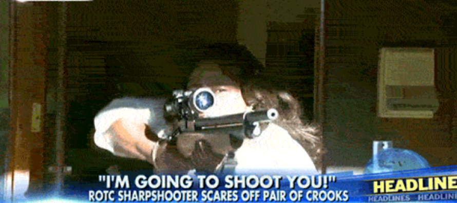 This Female ROTC Sharpshooter Chased Off Armed Robbers