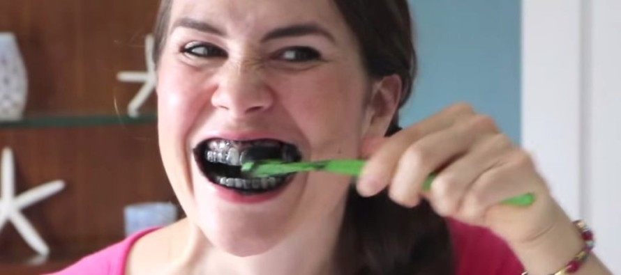 VIDEO: 5 Minutes After Woman Rubs Charcoal On Her Teeth, THIS Happens!