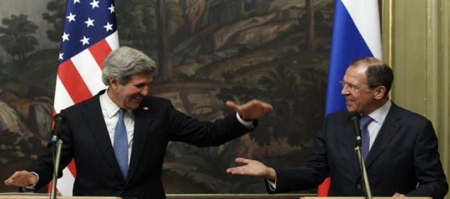 Ultimate Humiliation: Kerry appears with Russian foreign minister after Putin bombs CIA-backed rebels [VIDEO]