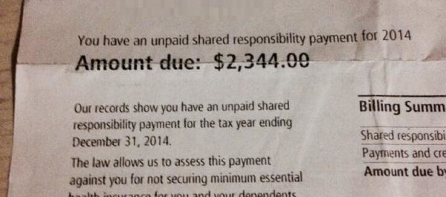 REMEMBER: If You Opted Out Of Obamacare, Fines Like This Are Coming Soon