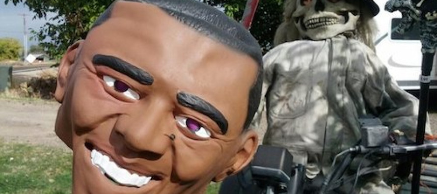 Halloween Decoration Features Obama's Decapitated Head