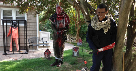 Is This Woman's Controversial Anti-Obama Halloween Display Over The Line?