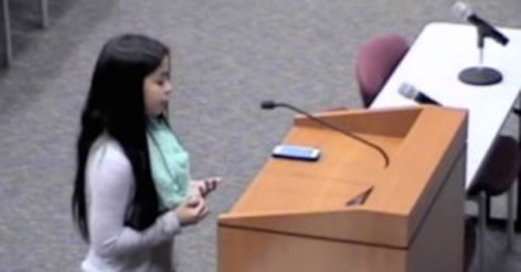 7th-grader explains what her teacher would do if she DID NOT deny the existence of God