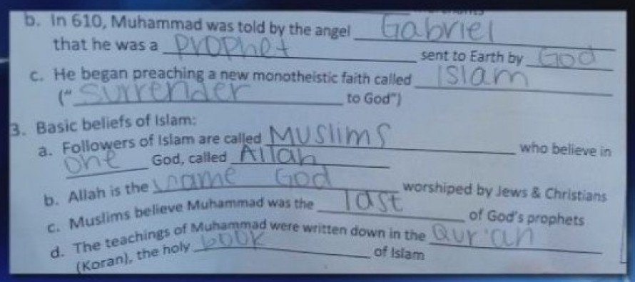 "Georgia Schools are Teaching Kids ""Allah is the Same God Worshipped by Jews and Christians"""