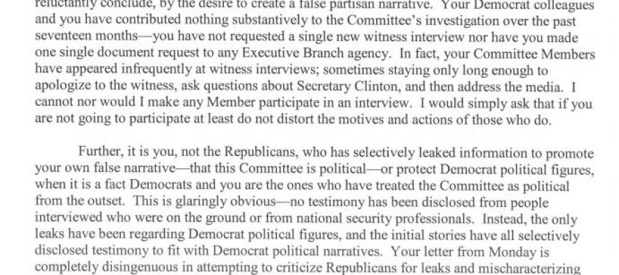 Trey Gowdy Lets Loose On Top Benghazi Committee Democrat Elijah Cummings In This 13-Page Letter