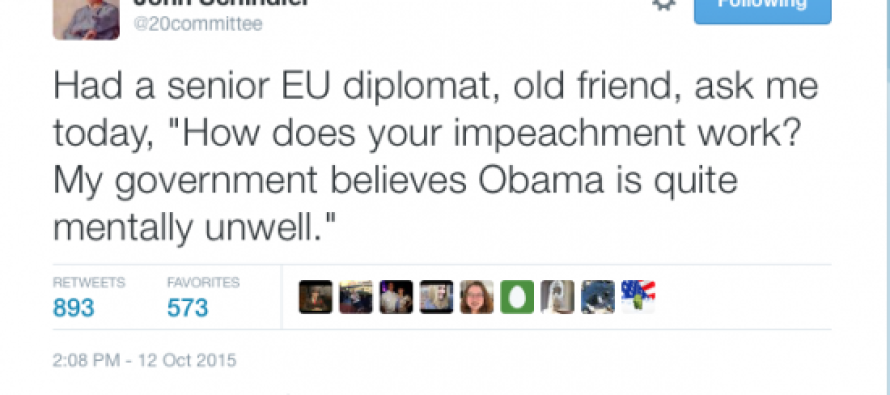 EU Diplomat: My Government Thinks Barack Obama Is Mentally Unwell