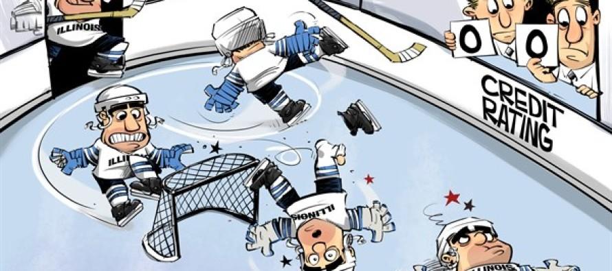 ILLINOIS credit stumble (Cartoon)