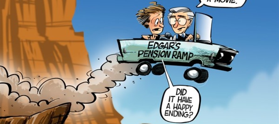 ILLINOIS Pension Ramp (Cartoon)