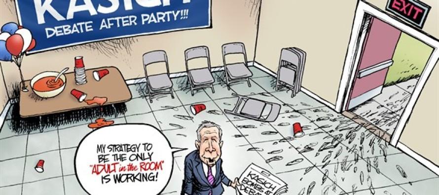Kasich Strategy (Cartoon)