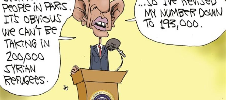 Obama Wants Refugees (Cartoon)