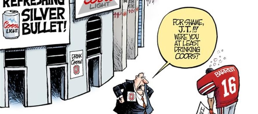 LOCAL OH – Buckeyes and Beer (Cartoon)