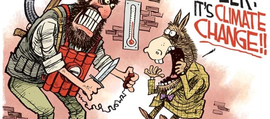Climate Change Terror (Cartoon)