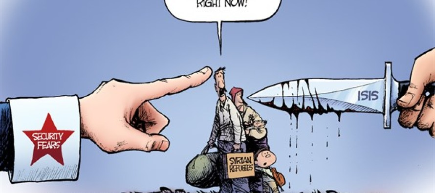 Syrian Refugees (Cartoon)