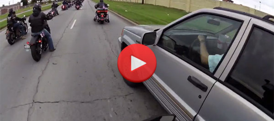 Idiot Tries to Run Veteran Bikers Off the Road… Then THIS Happens! [VIDEO]
