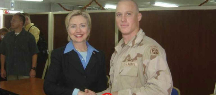 See Why This Photo of Hillary and a Soldier Is Provoking Controversy