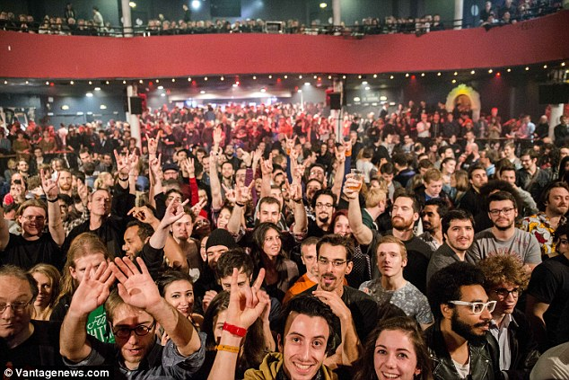 Innocent: The crowd inside the Bataclan just moments before the attack by three ISIS terrorists.