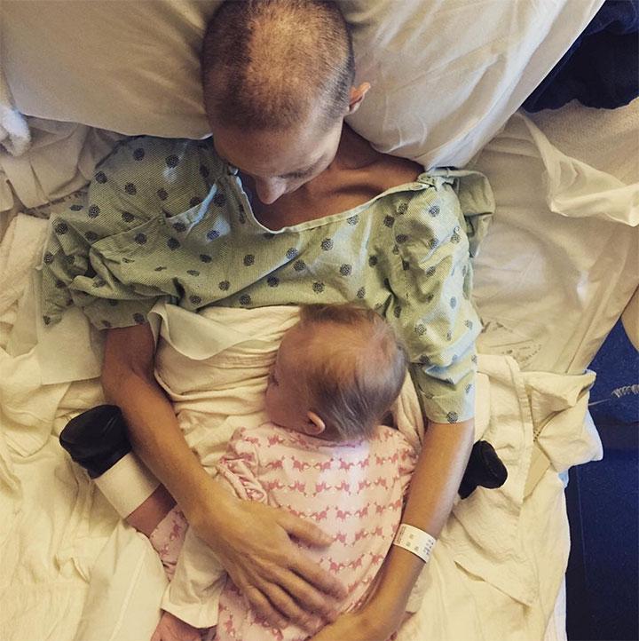 Joey Martin Feek shown embracing her daughter Indiana. Instagram/Joey+Rory