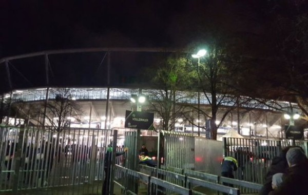 The stadium in Hannover after Tuesday's evacuation. (Dion Farnes)