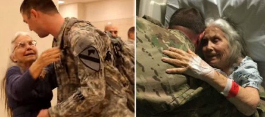 This Grandmother Hugged Soldiers At Airport For 12 Yrs. When She Wasn't There, They Did This