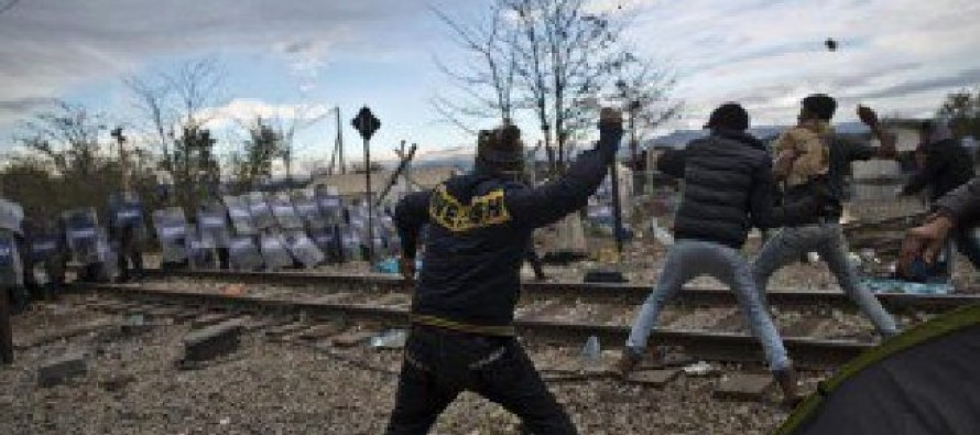 WATCH: Muslim Refugees Stone Police in Macedonia While Shouting Islamic War Cry