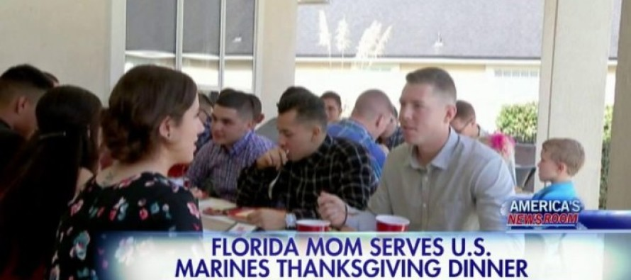 15 Marines Couldn't Make It Home For Thanksgiving… What This Mom Did Is Incredible