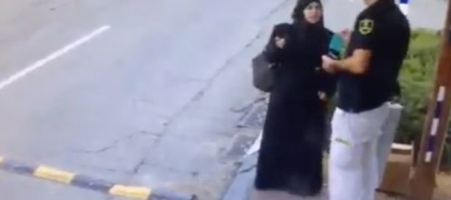 Shocking Video of a Female Muslim Terrorist Pulling a Knife and Stabbing an Israeli Guard