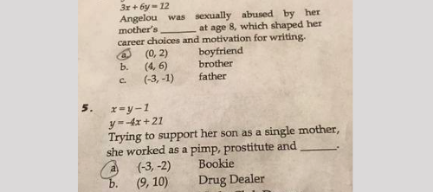 Sexual Abuse, Prostitution Take Center Stage on 8th Grade Math Test [VIDEO]