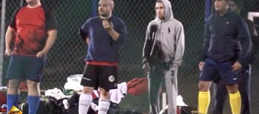 The Hilarious Moment When Soccer Players Discover Who They are Competing With [Video]